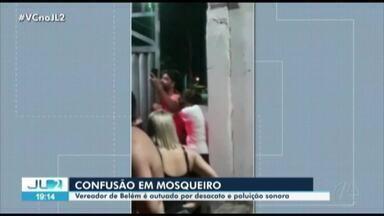 Vereador de Belém é autuado por poluição sonora e desacato em Mosqueiro, distrito de Belém - Vídeos registraram o momento da confusão.