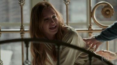 Dino é escorraçado por Arthur e posto para fora do estúdio - Eliza perde o controle ao ver o padrasto. Carolina manda Florisval ficar de tocaia na rua para não permitir a entrada de Dino