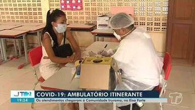 Comunidade Irurama recebe ações das equipes de saúde do ambulatório itinerante - Além de serviços de saúde foram ofertados medicamentos à população.