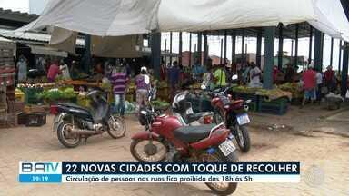 Vinte e duas cidades da Bahia decretam toque de recolher para evitar contágio da doença - Circulação de pessoas nas ruas fica proibida das 18h às 5h.