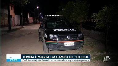Jovem é morta em campo de futebol - Saiba mais em g1.com.br/ce