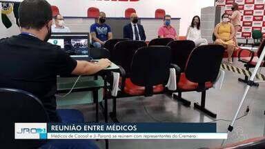 Médicos se reúnem para falar dos problemas que enfrentam por causa da pandemia - Eles reclamam da falta de apoio.