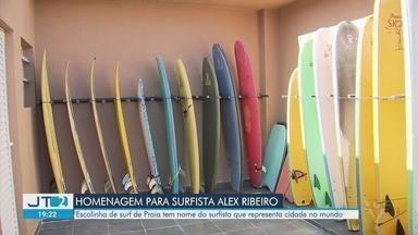 Praia Grande inaugura nova escola de surfe - Unidade fica no bairro Canto do Forte e será utilizada no projeto SuperEscola.