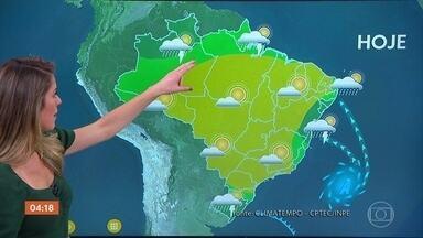 Previsão é de chuva no ES nesta segunda-feira; veja como fica o tempo em todo o país - Chove do Acre até o Pará.