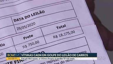 Vítimas caem em golpe do leilão de carros - Em um dos casos, a vítima chegou a perder 51 mil reais.