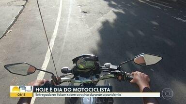 Hoje é dia do motociclista - No dia do motociclista , profissionais falam da rotina deles nesta pandemia