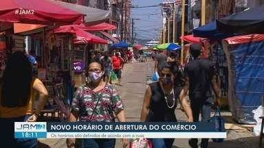 Em Manaus, comércio e construção civil tem novo horário de abertura - Horários são definidos de acordo com as ruas.