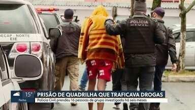 Operação contra tráfico de drogas tem 16 presos - Ação da Polícia Civil é fruto de seis meses de investigação.