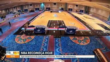 """Temporada da NBA retorna, com jogos sediados em """"bolha"""" de isolamento na Flórida - Temporada da NBA retorna, com jogos sediados em """"bolha"""" de isolamento na Flórida"""