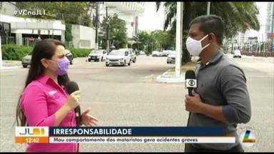 Mau comportamento dos motoristas em Belém gera acidentes - irresponsabilidade dos motoristas é o principal problema.