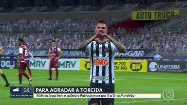 Atlético-MG joga bem e goleia o Patrocinense por 4 a 0 Mineirão - Atlético-MG joga bem e goleia o Patrocinense por 4 a 0 Mineirão