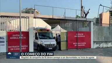 Hospitais de Campanha do interior do RJ têm data de desmontagem definida - Unidade de Nova Friburgo não chegou a ser inaugurada.