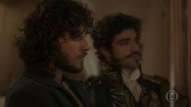 Dom Pedro tenta consolar Joaquim - Joaquim fala da raiva que sente por Thomas estar com Anna e sua filha