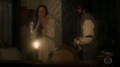 Amália se desespera ao lembrar de seu bebê morto - Ela tem a lembrança durante uma sessão de magnetismo