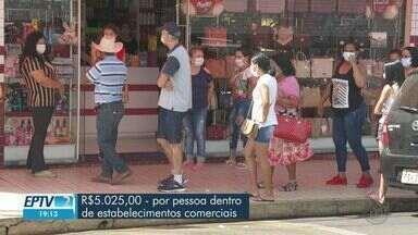 PM e Vigilância Sanitária vão multar quem estiver sem máscara em Jaboticabal, SP - Prefeitura diz que distribuiu 40 mil máscaras à população.