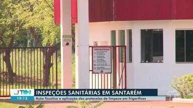 Ação fiscaliza aplicação de protocolos de limpeza em frigoríficos em Santarém - Ações de inspeção sanitária foram realizadas na manhã desta quinta-feira, 30.