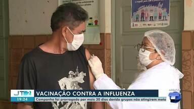 Campanha de vacinação contra a gripe é prorrogada por mais 30 dias em Santarém - Para se imunizar, pessoas devem comparecer a UBS's.