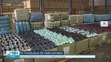 Receita Federal apreende 22 toneladas de produtos falsificados no Porto de Santos - Produtos estavam escondidos em contêiner no Porto.