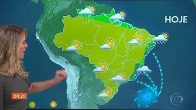 Previsão é de chuva forte no ES nesta sexta-feira - O tempo fica firme em São Paulo.