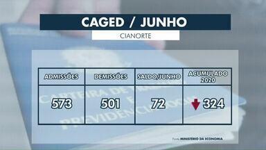 Cianorte registra mais contratações do que demissões em junho - Dados foram divulgados pelo Caged e apontam fechamento de 122 vagas em Paranavaí.