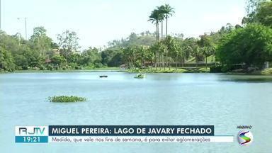 Prefeitura de Miguel Pereira fecha lago Javary para evitar aglomerações - Medida funciona durante os fins de semana para evitar a propagação da Covid-19.