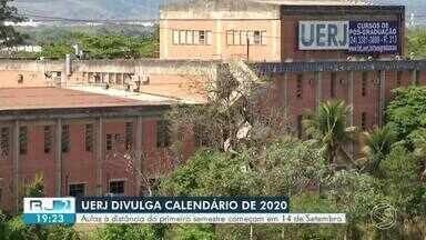 UERJ divulga calendário de 2020 com mudanças devido à pandemia - Aulas serão on-line e começam a partir de 14 de setembro; segundo semestre de 2020 inicia a partir de 3 de fevereiro de 2021.