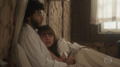 Cecília e Libério conversam sobre a maldade de Sebastião - Libério diz que vai escrever um artigo contando sua história