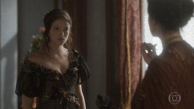 Domitila e Benedita se enfrentam - Benedita propõe uma aliança, mas Domitila não acredita nas boas intenções da irmã