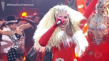"""Solange Almeida canta """"Lady Marmalade"""" como Cristina Aguilera - Jurados eloagiam a apresentação"""