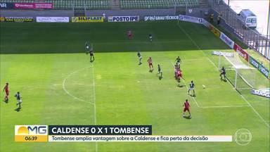 Tombense amplia vantagem sobre a Caldense e fica perto da decisão - Equipe de Tombos venceu por 1 a 0.