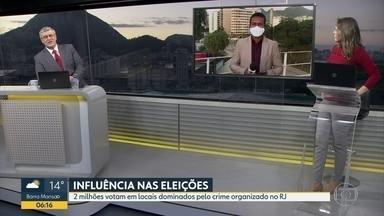Eleições podem ter influência do crime organizado - Dois milhões votam em locais dominados pelo crime organizado no Rio de Janeiro