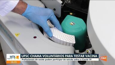 UFSC convoca voluntários para participar de estudo sobre a Covid-19 - UFSC convoca voluntários para participar de estudo sobre a Covid-19