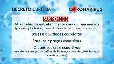 Prefeitura anuncia novos horários para shoppings e comércio em Curitiba - Para outros serviços, medidas de suspensão e restrição foram prorrogadas.