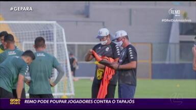 Clube do Remo deve poupar jogadores diante do Tapajós - Clube do Remo deve poupar jogadores diante do Tapajós