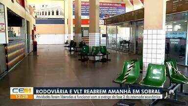 Rodoviária e VLT reabrem amanhã em Sobral - Saiba mais no g1.com.br/ce