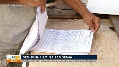 Julho termina com recorde de endividamento no Tocantins - Julho termina com recorde de endividamento no Tocantins