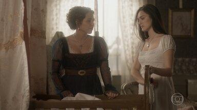 Leopoldina exige que Thomas a deixe ver Anna - Thomas cede e deixa a princesa se encontrar com a amiga. Jacira convence as mulheres da aldeia a lutar. Os índios se recusam a trabalhar para os pistoleiros e Piatã tenta negociar. Anna conversa com a princesa sobre Dom Pedro