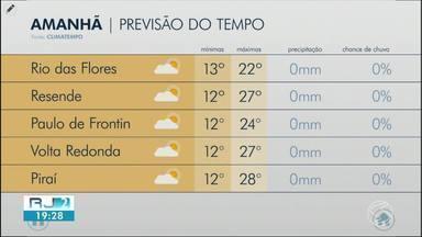 Meteorologia prevê tempo seco nesta quarta-feira para o Sul do Rio - Temperaturas não passam dos 28 graus e não há probabilidade de chuva.
