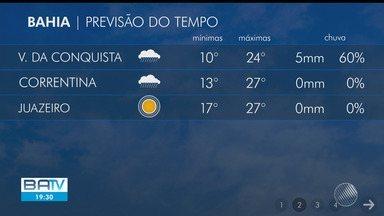 Marinha emite alerta de ventos fortes no litoral baiano; confira também previsão do tempo - Confira as temperaturas na capital do estado e cidades do interior na quarta-feira (5).