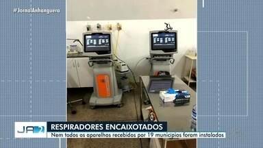 Mesmo após receberem respiradores, prefeituras deixam de instalar equipamentos em Goiás - TV Anhanguera tem acesso a documento que mostra que equipamentos foram enviados pelo Ministério da Saúde, mas não foram instalados em 19 municípíos.