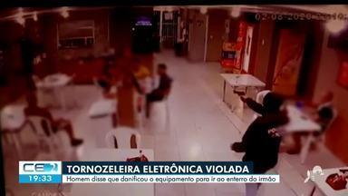 Homem viola tornozeleira eletrônica e é preso pela polícia - Saiba mais em: g1.com.br/ce