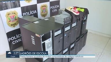 Polícia Civil prende suspeitos de roubar computadores em Registro - Eles teriam roubado computadores de colégios estaduais.