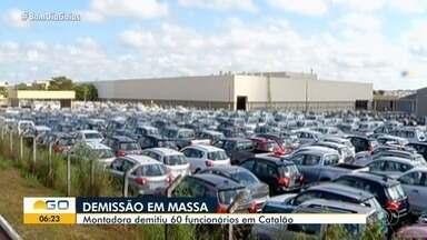 Montadora de veículos demite 60 funcionários por causa da pandemia, em Catalão - Crise chegou à empresa.