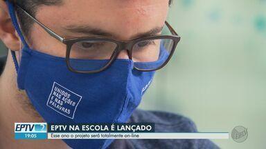 """EPTV na Escola 2020 é lançado em Ribeirão Preto, SP - """"A tecnologia que melhora o mundo, melhora mesmo a minha vida?"""" é o tema deste ano."""