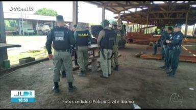 Operações de combate à extração ilegal de madeira no PA têm balanço divulgado - Até agora, foram apreendidos 2 mil metros cúbicos de madeira na região oeste.