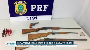 Apreensões de armas de fogo em rodovias federais cresceram mais de 200% em Rondônia - Dados são do primeiro semestre de 2020 em comparação com o mesmo período de 2019