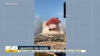 Famílias goianas falam sobre medo por parentes que moram no Líbano por causa da explosão - Ao menos 300 mil libaneses e descendentes vivem em Goiás, muitos com familiares em Beirute.