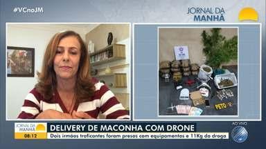 Irmãos que usavam drone para entregar drogas e monitorar viaturas da polícia são presos - Caso ocorreu em Feira de Santana, no interior do estado.