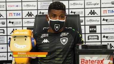Atacante do Botafogo, Rhuan comemora adiamento do jogo contra o Bahia - undefined