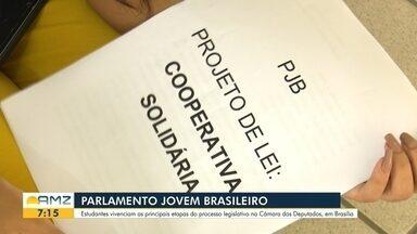 Estudantes Roraimenses vagas no programa Parlamento jovem - As estudantes vivenciam as principais etapas do Parlamento jovem em Brasília.